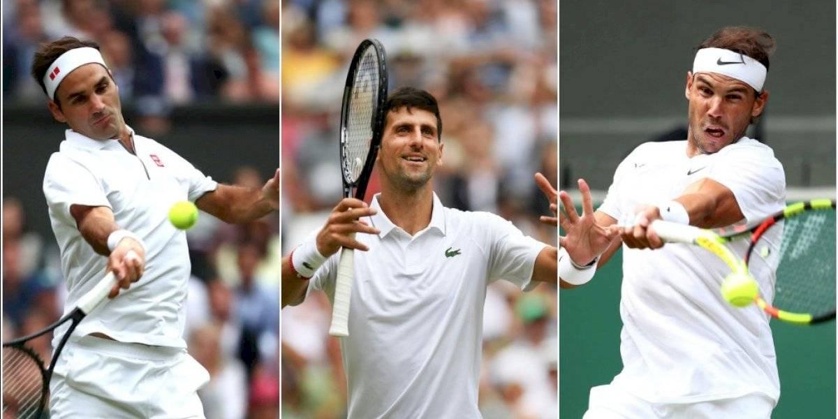 La aplastante racha con la que Federer, Djokovic y Nadal arrasan la hierba de Wimbledon