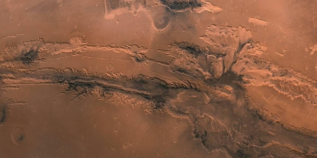 El Gran Cañón de Marte en un espectacular close up