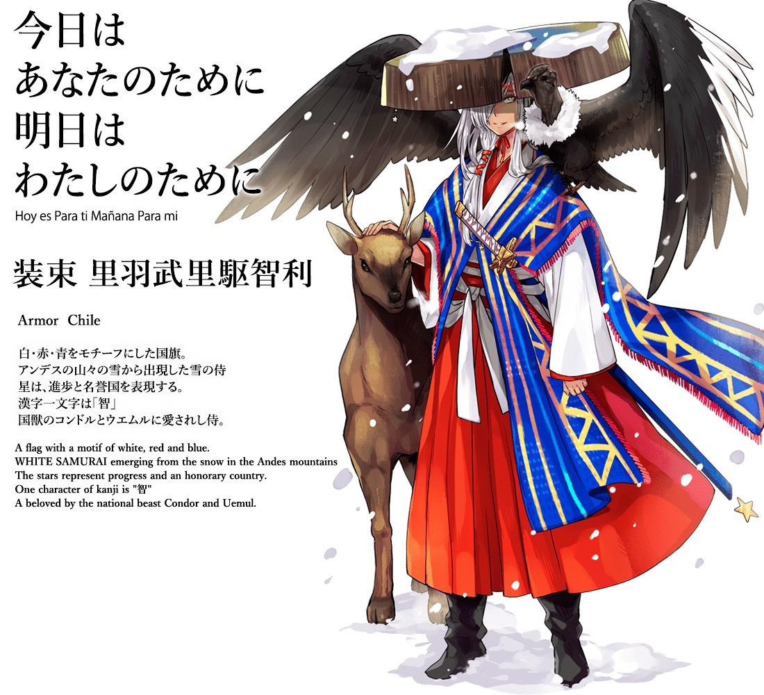 Japón transformó a los países de los Juegos Olímpicos de Tokyo 2020 en samurais de animé