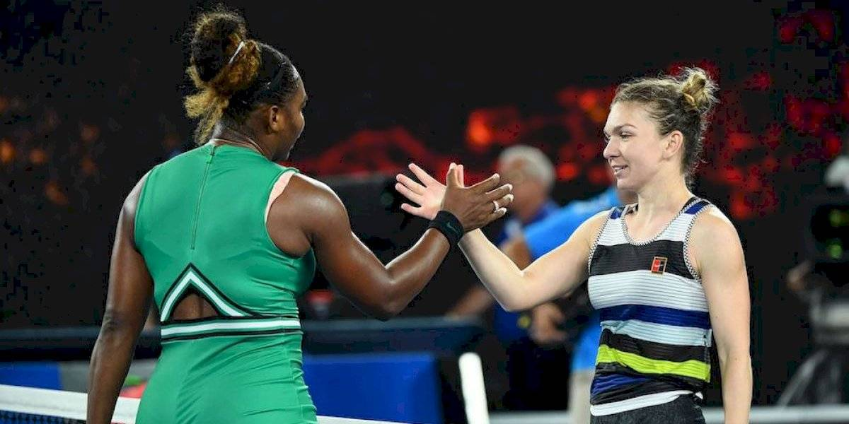 Serena Williams y Simona Halep, en la final de Wimbledon
