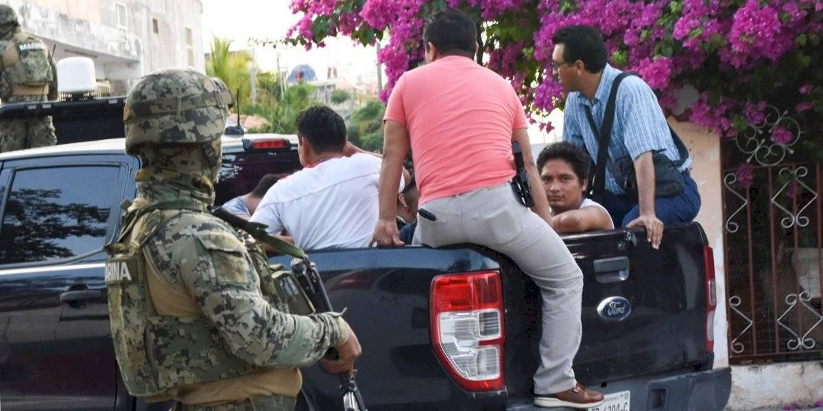 Guardia Nacional detiene a 61 migrantes centroamericanos en Cancún