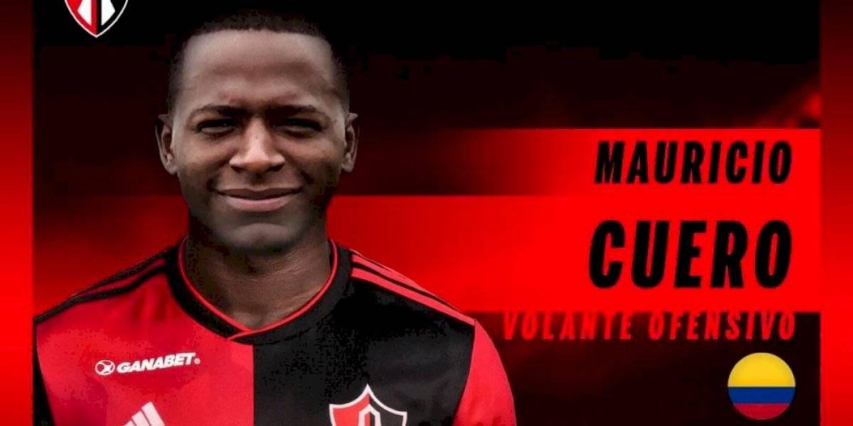 Atlas anuncia a colombiano Mauricio Cuero como refuerzo