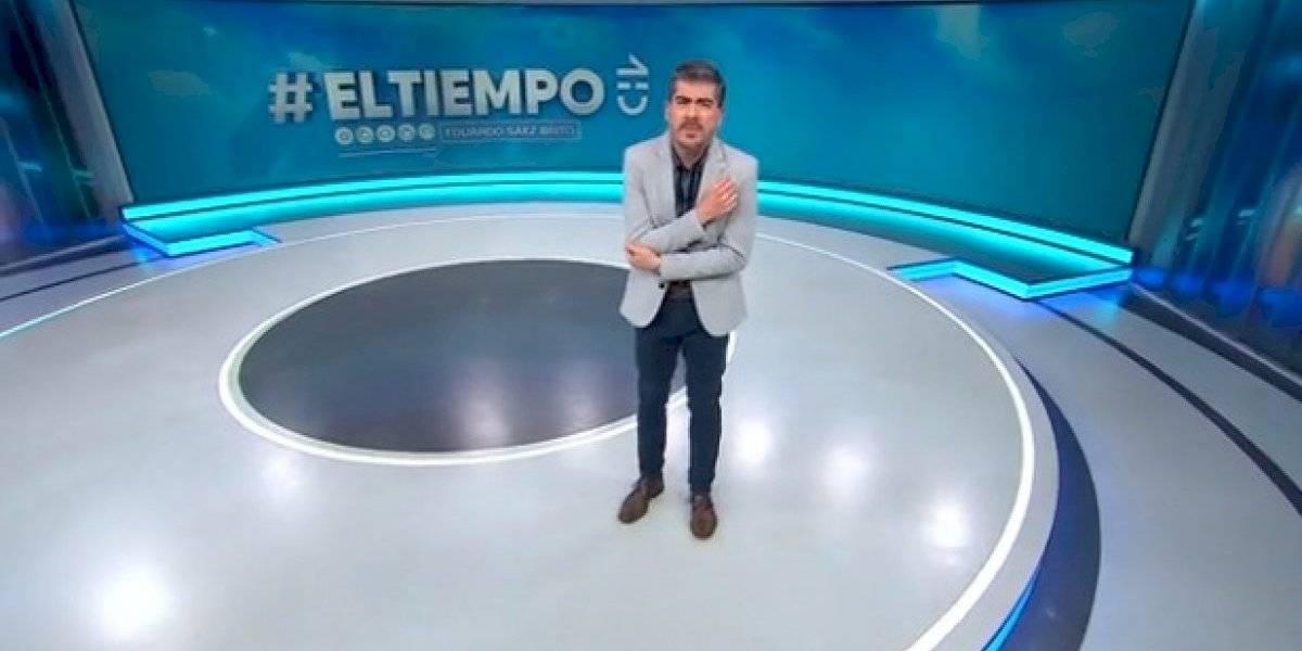 """""""¡Ay, mi codo!"""": la burla de conductor del tiempo en CHV a Cata Pulido que sacó risas en redes sociales"""