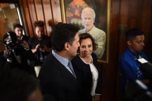 reunión de Sandra Torres y Ricardo Quiñónez