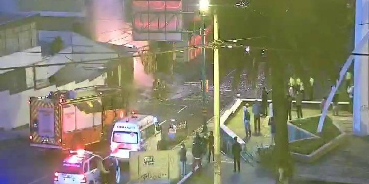 Quito: Incendio estructural en una panadería en la avenida Mariana de Jesús