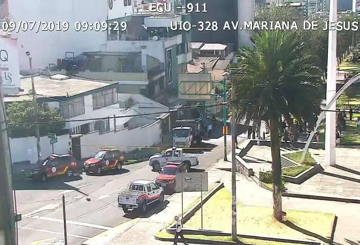 El momento exacto del incendio en la panadería en la Mariana de Jesús ECU 911