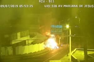 El momento exacto del incendio en la panadería en la Mariana de Jesús
