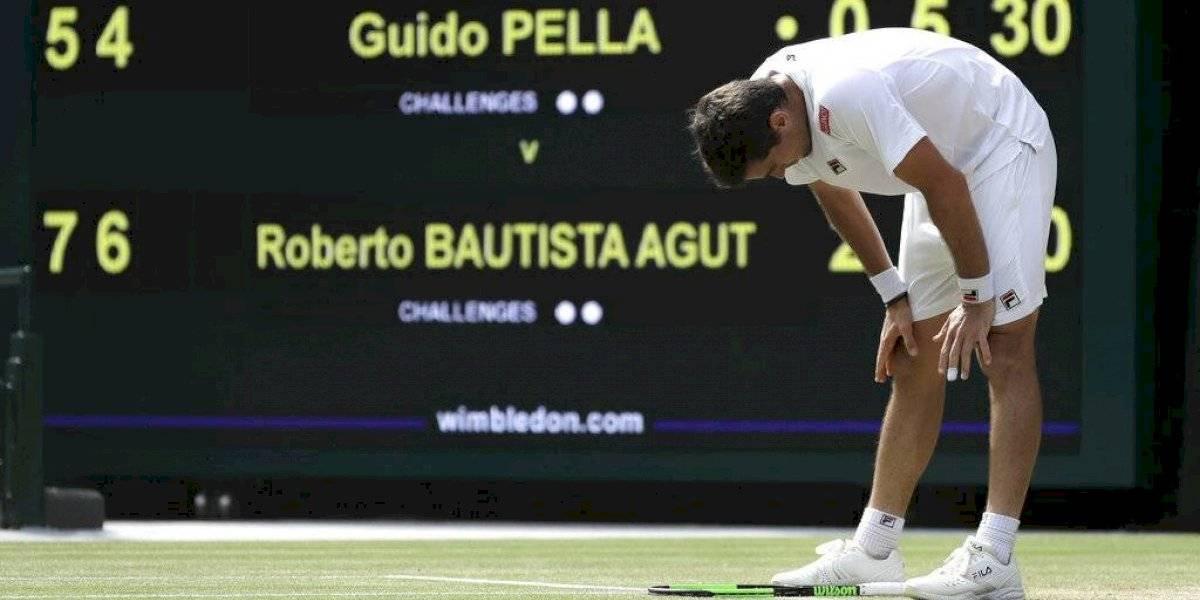 El sueño del argentino Pella en Wimbledon terminó ante Bautista Agut que desafiará a Djokovic