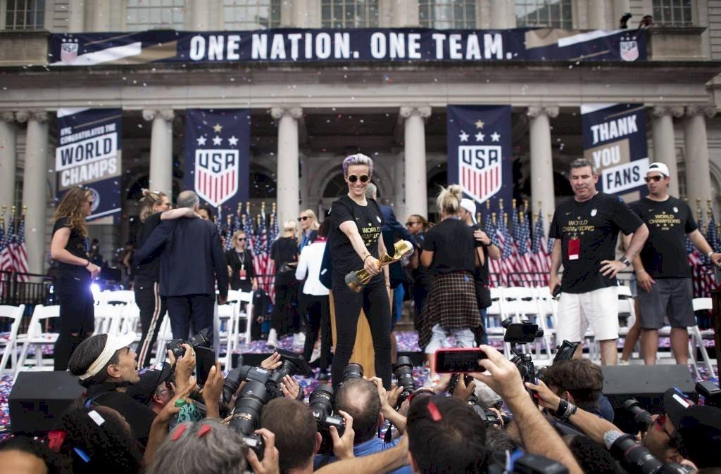 Nueva York recibe a campeonas del munfo del futbol