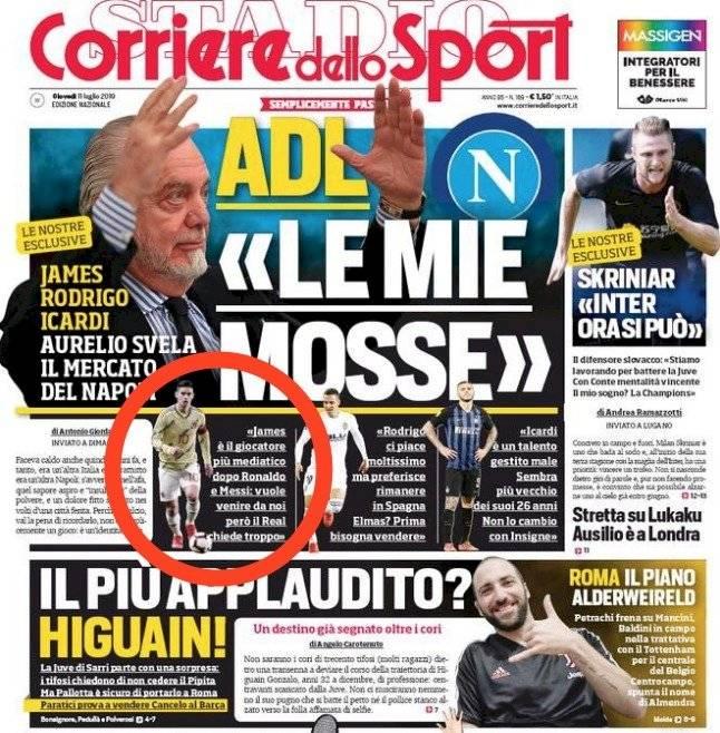 Portada Corriere dello Sport 11 de julio 2019