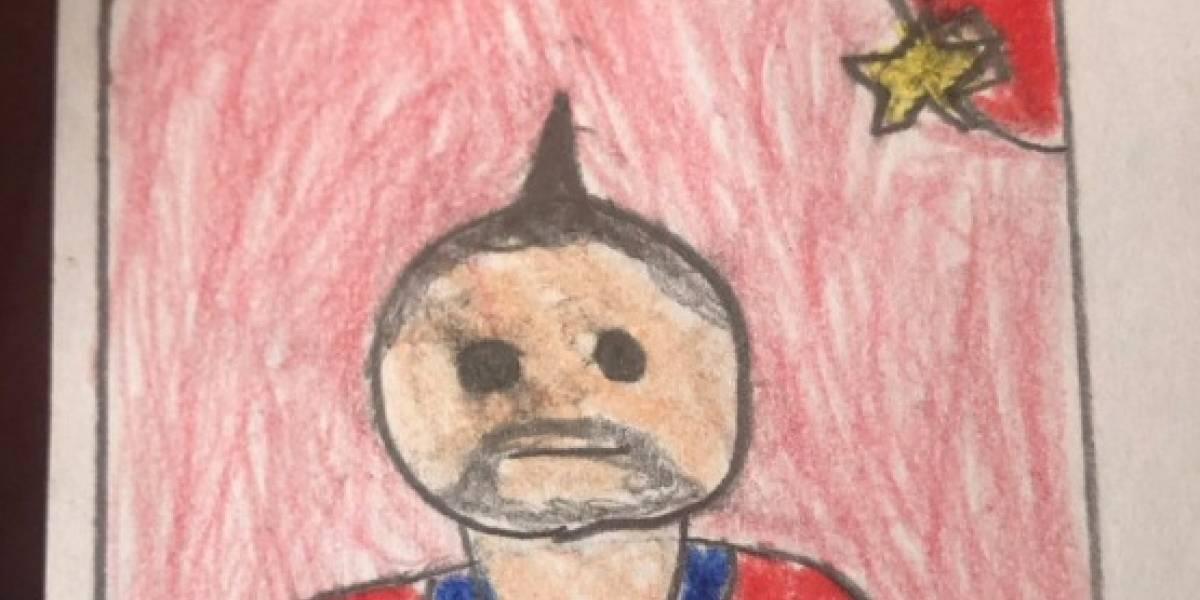 """""""Los sueños sí se cumplen"""": niño conmovió a Internet tras dibujar lámina de Vidal incluso al """"king"""" Arturo"""