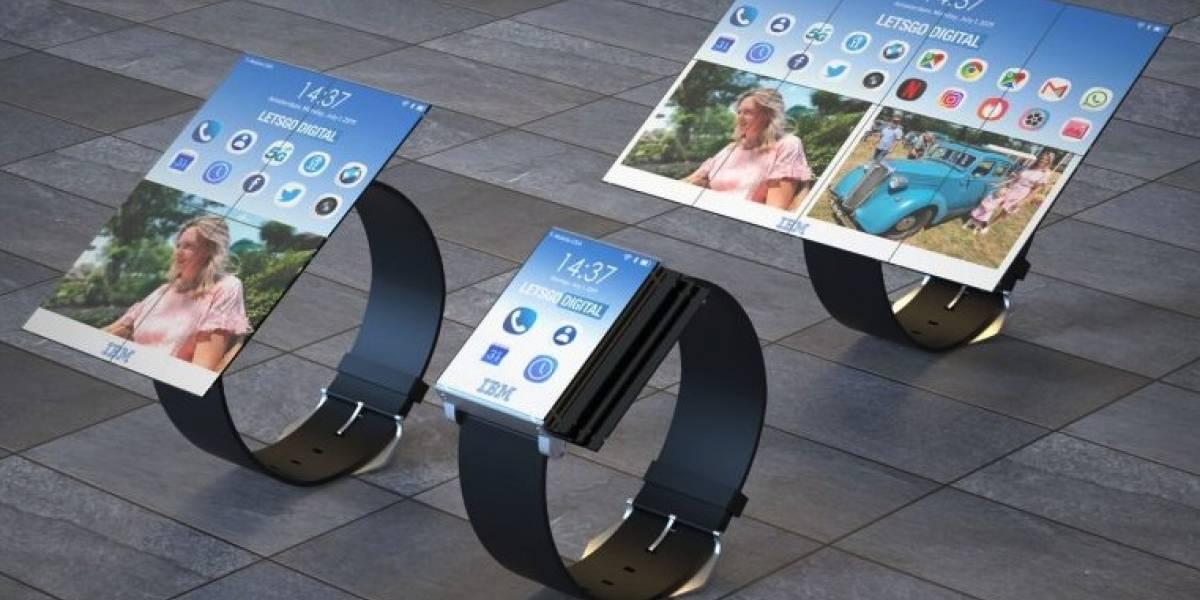 Esto sí es futurista: IBM patentó un reloj inteligente con pantalla plegable que se convierte en una tablet