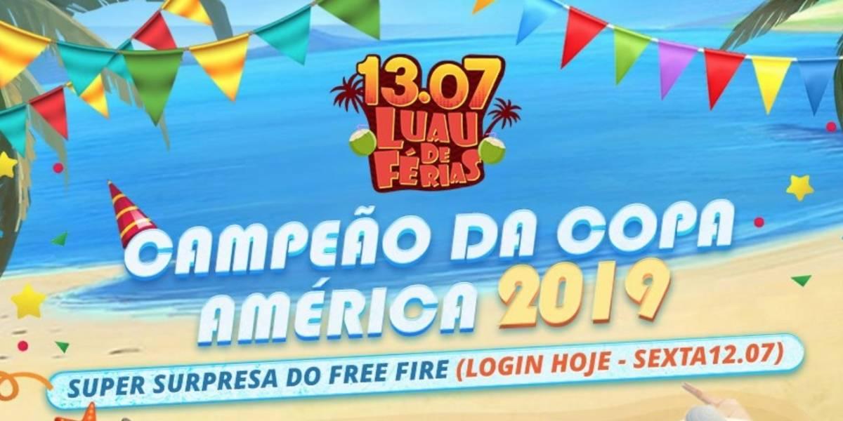 Garena Free Fire lança promoção especial para comemorar vitória do Brasil na Copa América 2019