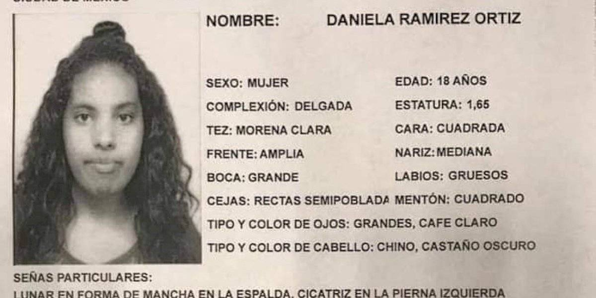 Restos localizados en Tlalpan pertenecen a Daniela Ramírez, confirma PGJ