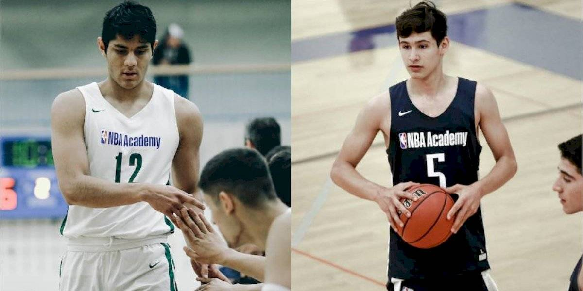 Gibrán Avelino y Santiago Camacho, mexicanos en los NBA Academy games