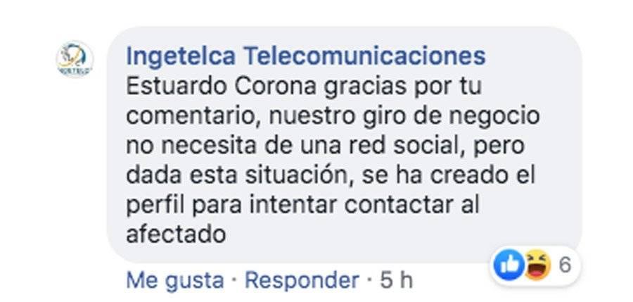 Comentario de Ingetelca