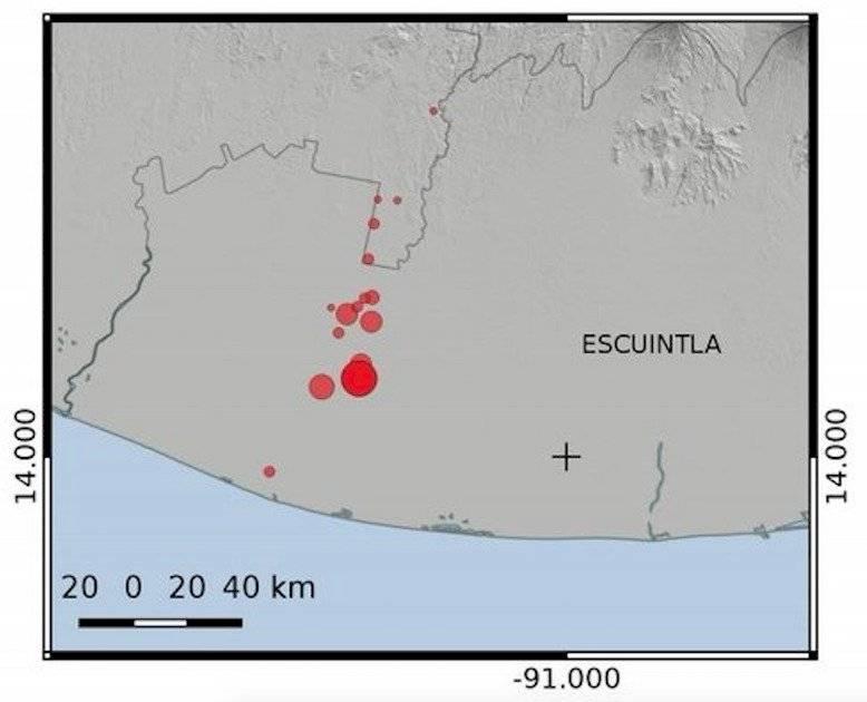 secuencia sísmica en Escuintla