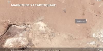 Imágenes de la grieta por el terremoto en California