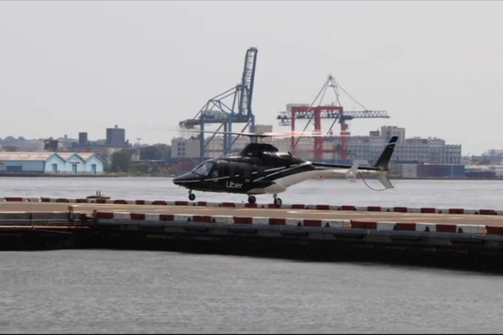 Surcando el cielo: Uber estrena su servicio de transporte en helicóptero en Nueva York
