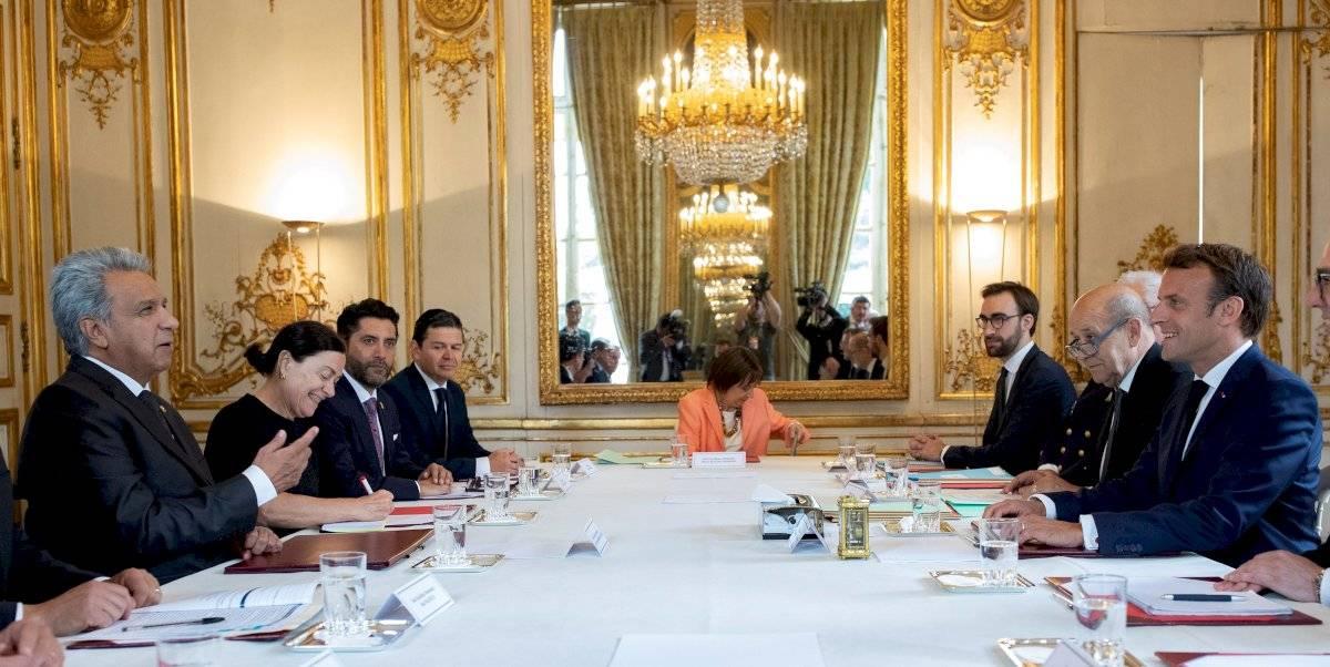 Un encuentro mantuvo este jueves en París Macron con su homólogo ecuatoriano, Lenín Moreno EFE