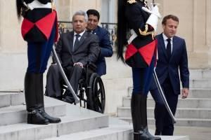 Un encuentro mantuvo este jueves en París Macron con su homólogo ecuatoriano, Lenín Moreno