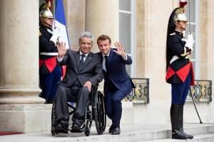 Presidente francés, Emmanuel Macron y el presidente ecuatoriano Lenín Moreno