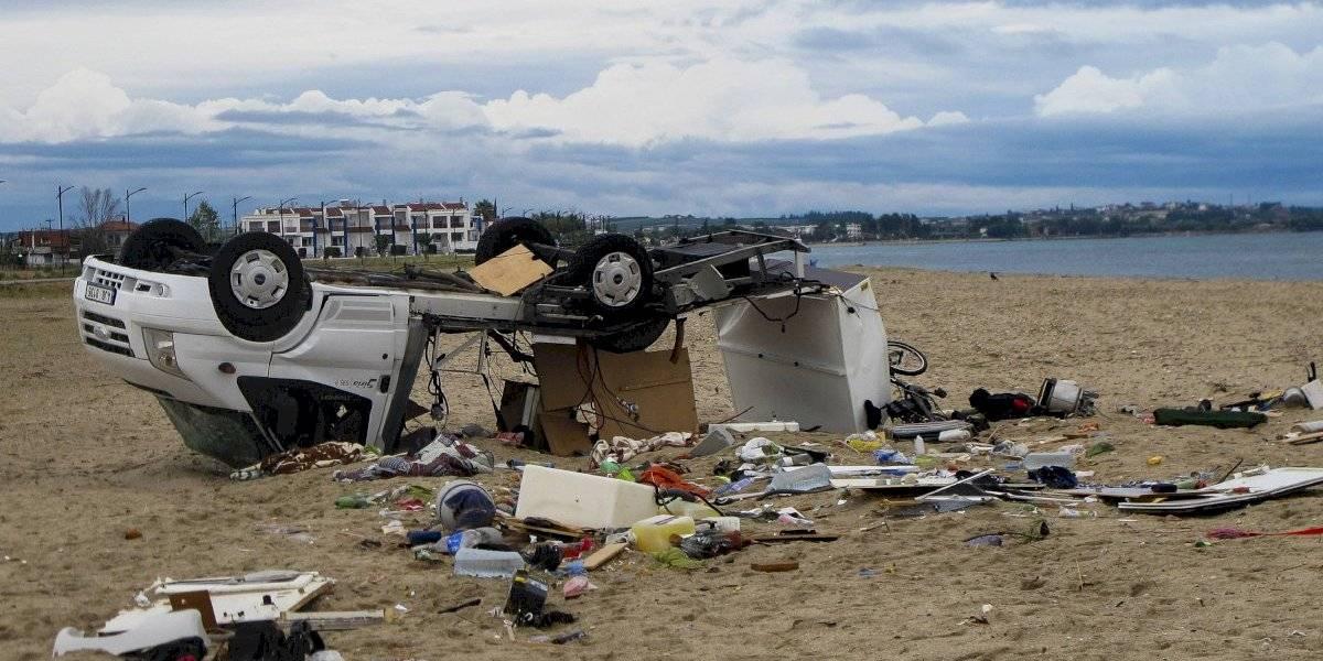 Dos niños y cinco adultos murieron tras el paso de una tormenta de granizo en Grecia