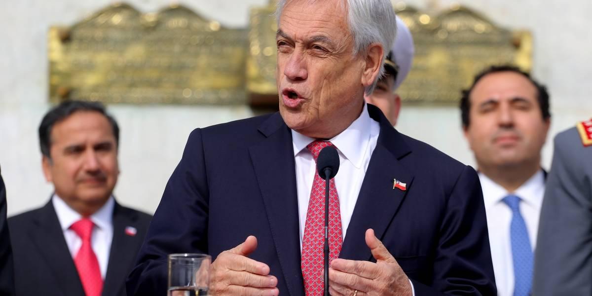 """Piñera por críticas a presencia de FFAA en la frontera: """"Van a colaborar con las policías, no a reemplazarlas"""""""