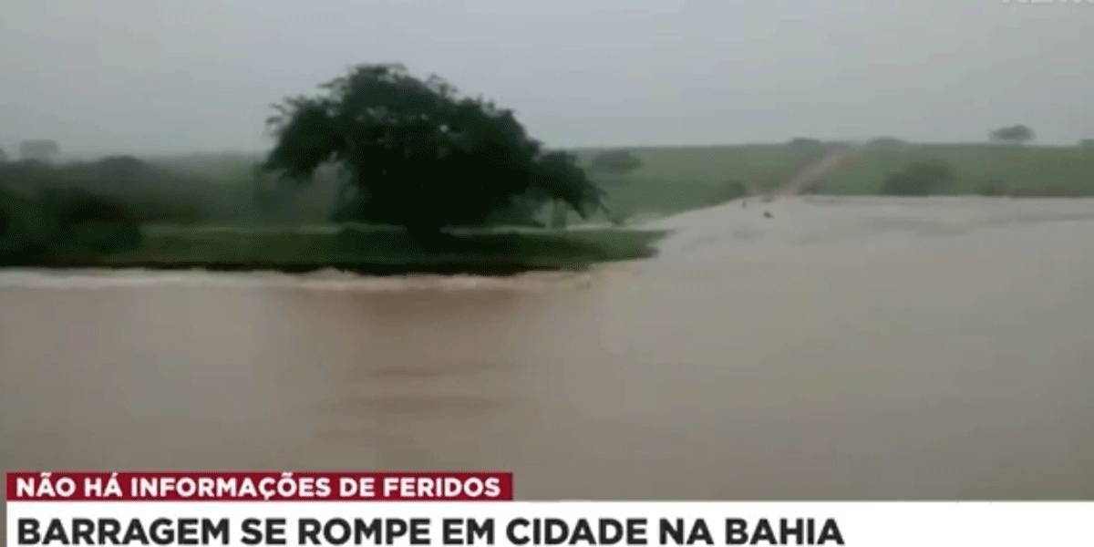 Rompimento de barragem na Bahia obriga moradores a abandonar casas