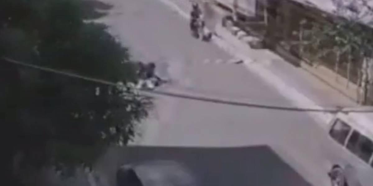 Video: Adulto mayor fue golpeado durante un robo en el norte de Guayaquil
