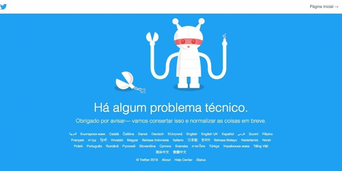 Twitter apresenta instabilidade e mensagem de erro para usuários nesta quinta