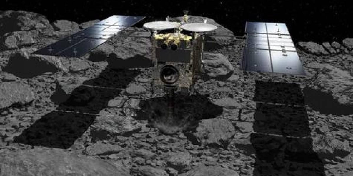 Sonda japonesa logra recolectar material desde un asteroide