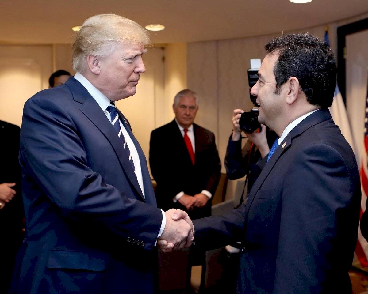 El presidente Jimmy Morales se reunirá con su homólogo de EE. UU., Donald Trump. Gobierno de Guatemala