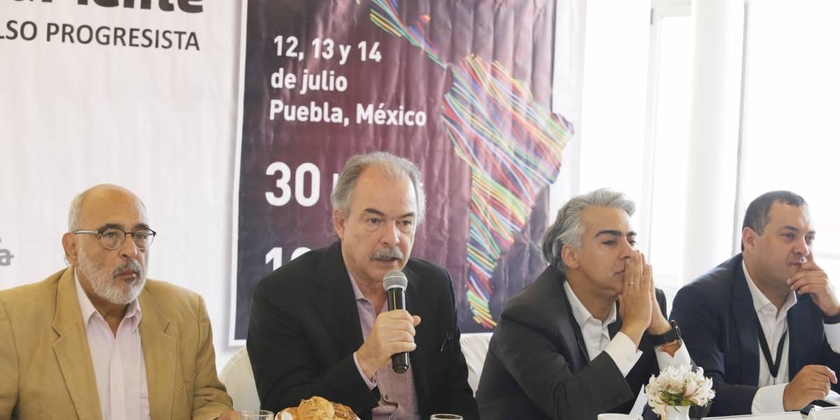 Presentan primer encuentro de líderes progresistas en Puebla