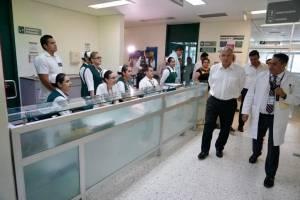 Visita del presiente al Hospital Rural San Cayetano, en Tepic.
