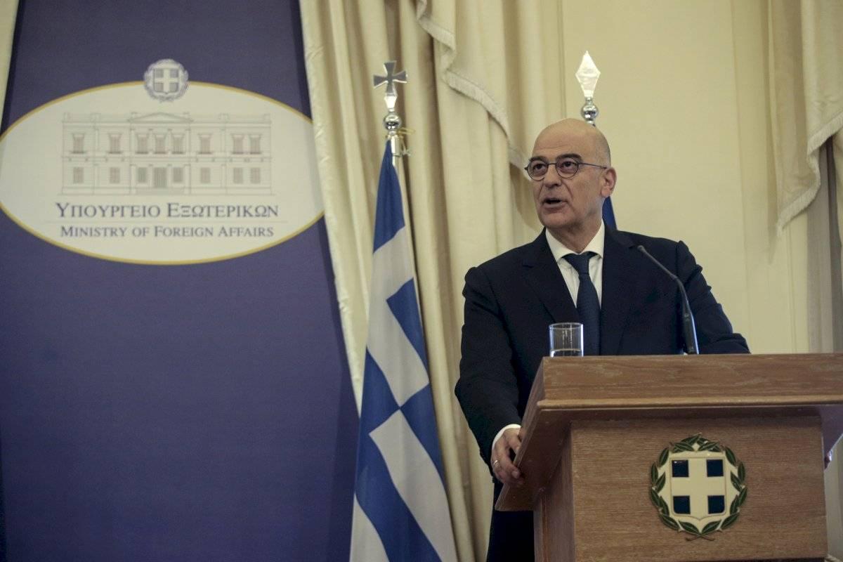 El ministro de exteriores de Grecia Nikos Dendias en la sede del ministerio en Atenas el 9 de julio del 2019. (