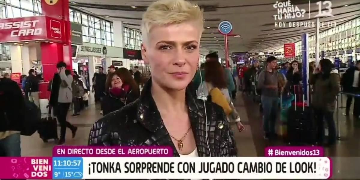 """""""Hay que ser diferente"""": Tonka Tomicic estrenó radical cambio de look e hizo estallar las redes sociales"""