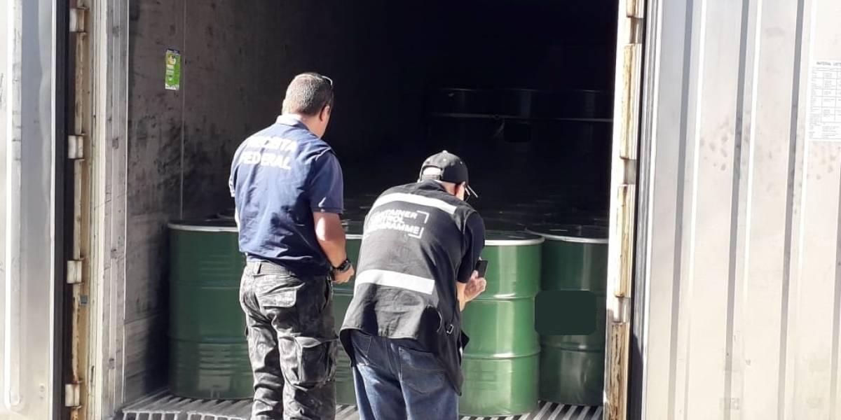 Carga de suco de laranja no Porto de Santos escondia 272kg de cocaína