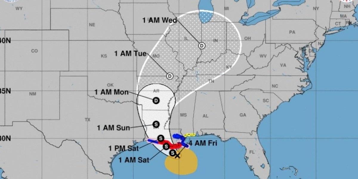 Tormenta Barry comienza a sentirse en Luisiana