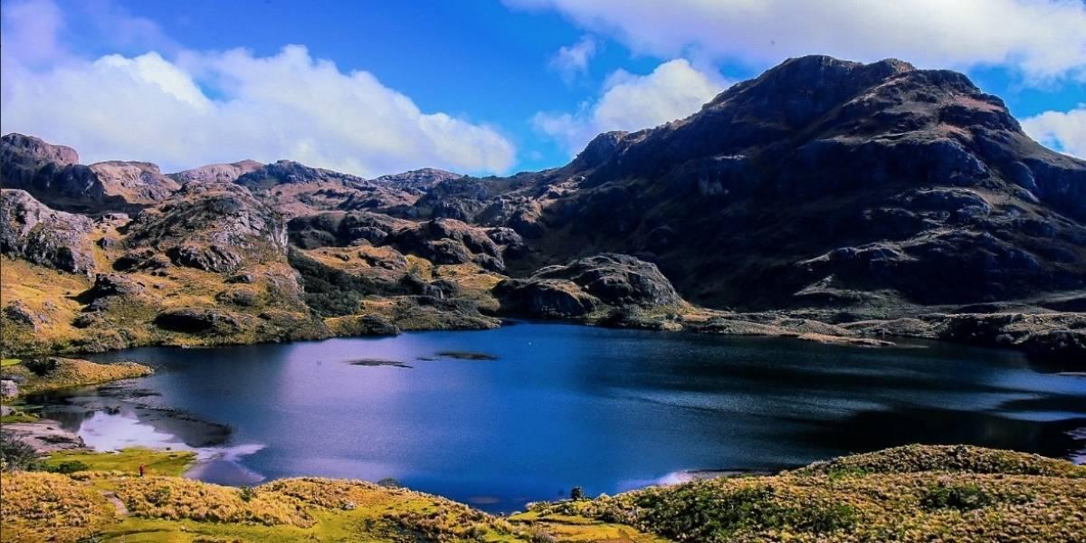 Lagunas del Parque Nacional El Cajas amanecieron congeladas