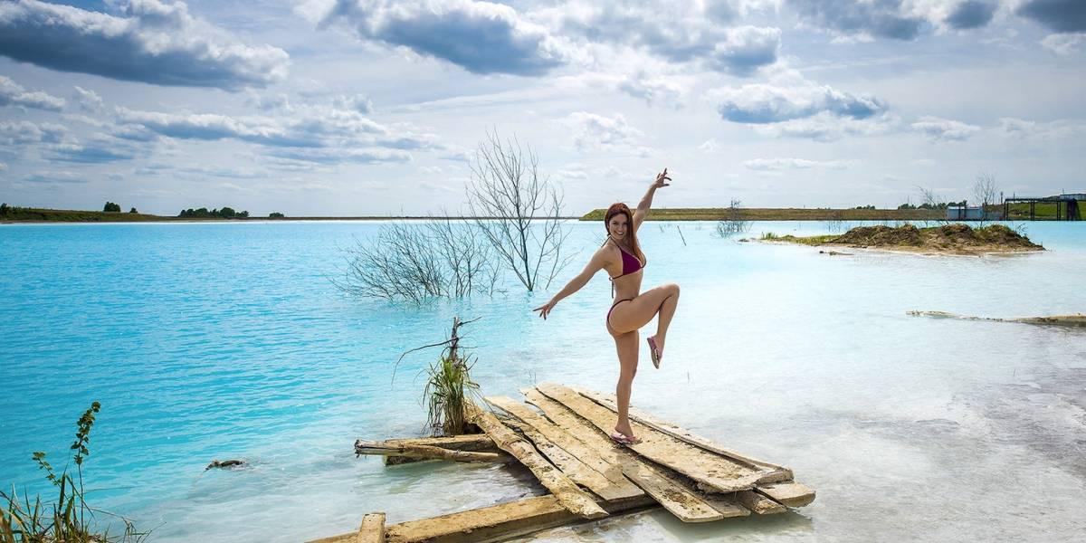 Lago tóxico de Siberia es una sensación en Instagram