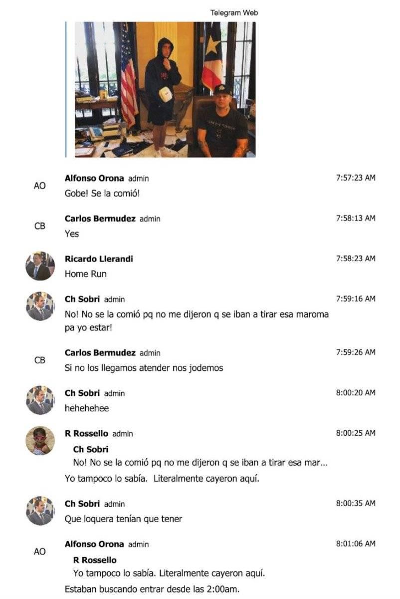 Bad Bunny y Residente en chat Telegram