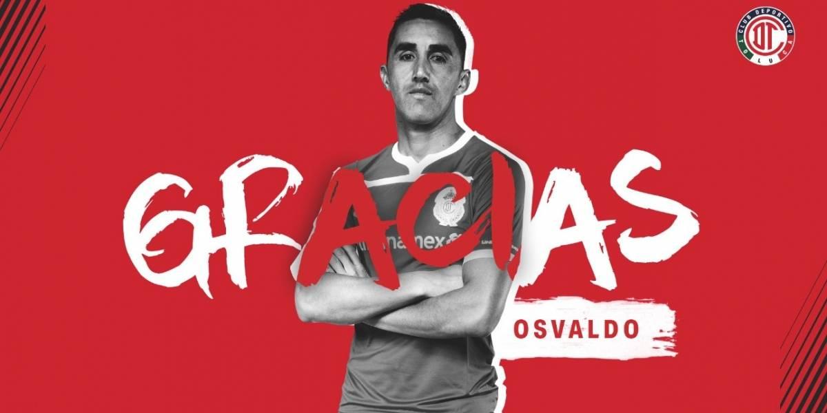 Toluca confirmó la salida de Osvaldo González que vuelve a Chile para firmar por la U