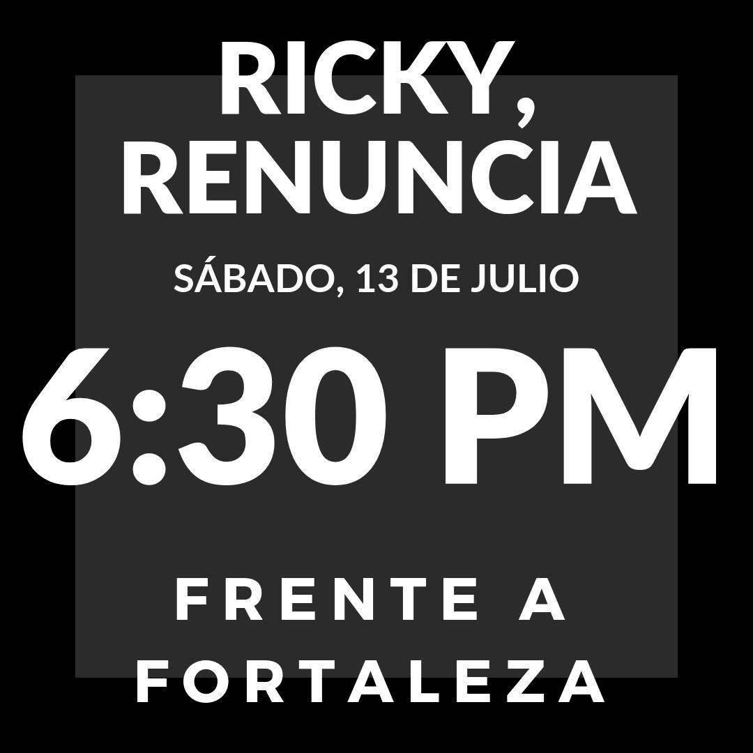 ricky renuncia