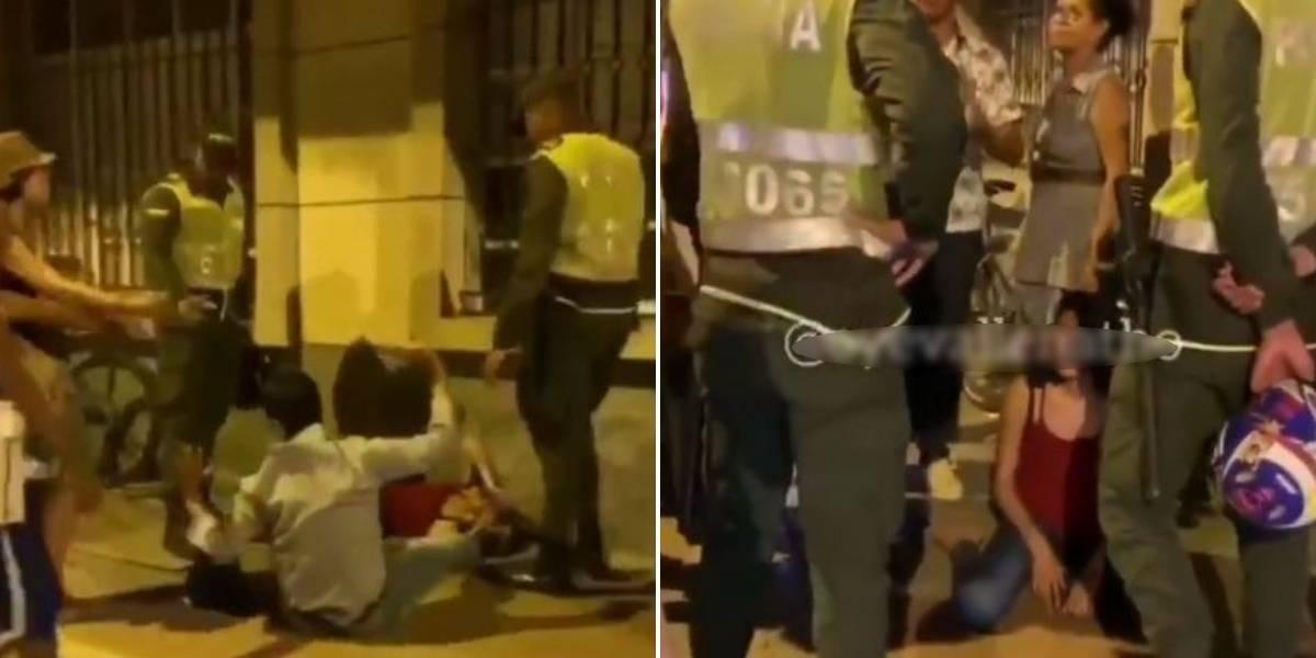 (Video) Mujer en aparente estado de embriaguez protagoniza escándalo en Santa Marta