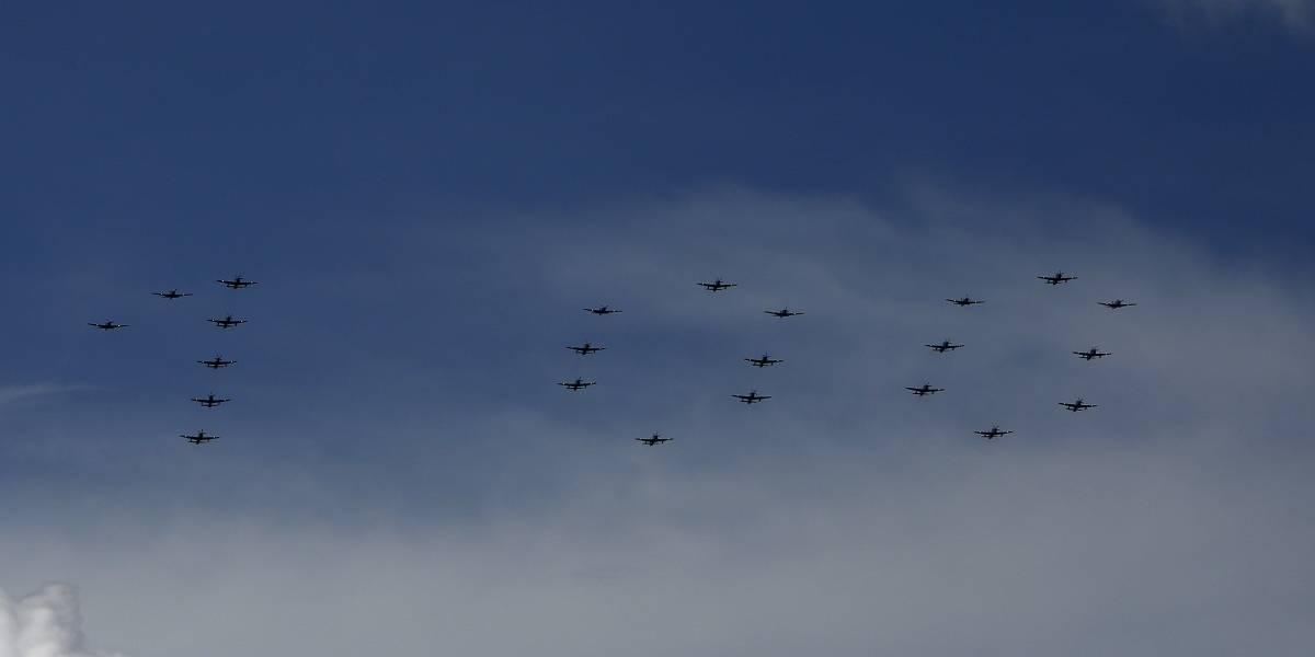 La Fuerza Aérea Colombiana celebra su centenario en Antioquia