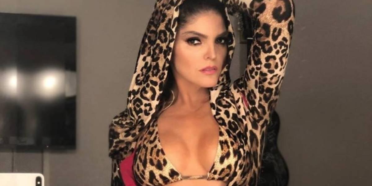 ¡De infarto! Ana Bárbara presume su retaguardia en diminuto bikini
