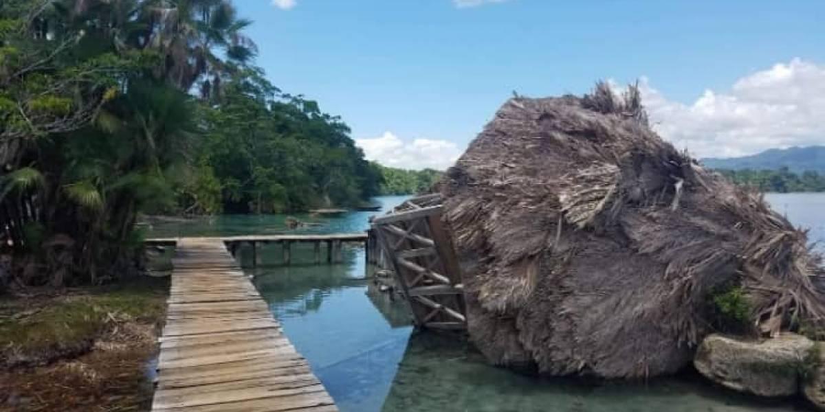 FOTOS. Vientos destruyen parque laguna Lachuá