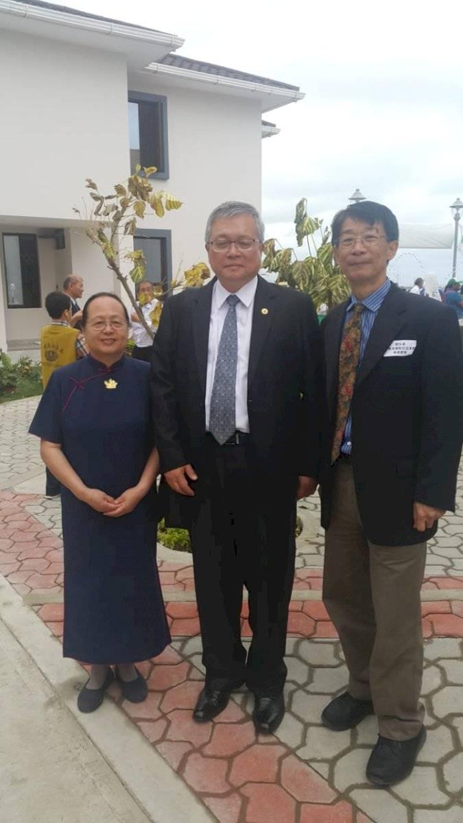 Representantes de la fundación Tze Chi de Taiwán, en Ecuador