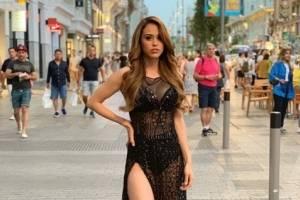 ¡Sin pudor! Yanet García deja al descubierto su trasero en las calles de Madrid